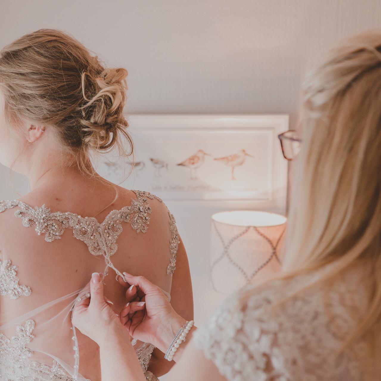 Fay Wedding - Thursford Collection at the Garden Pavilion, Norfolk. Doing Wedding dress