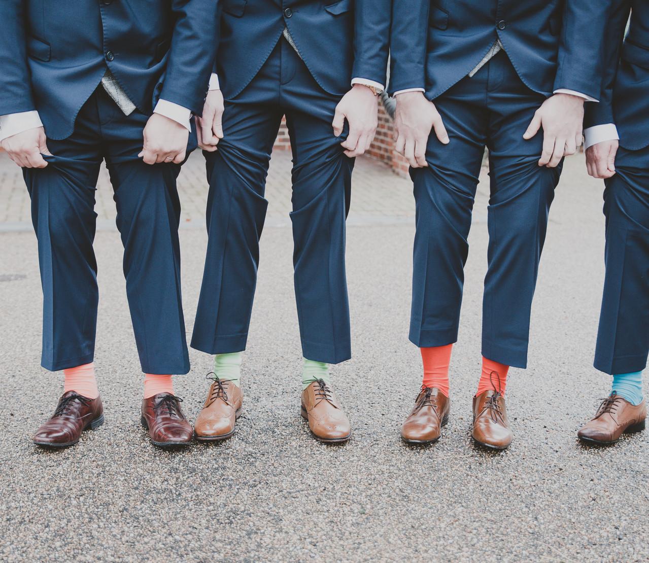 Fay Wedding - Thursford Collection at the Garden Pavilion, Norfolk. Coloured socks.
