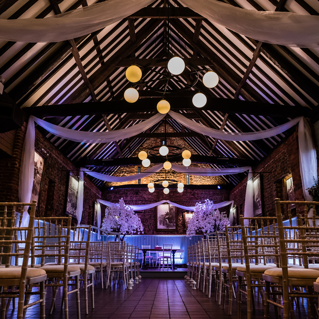 Fay Wedding - Thursford Collection at the Garden Pavilion, Norfolk. Wedding Hall