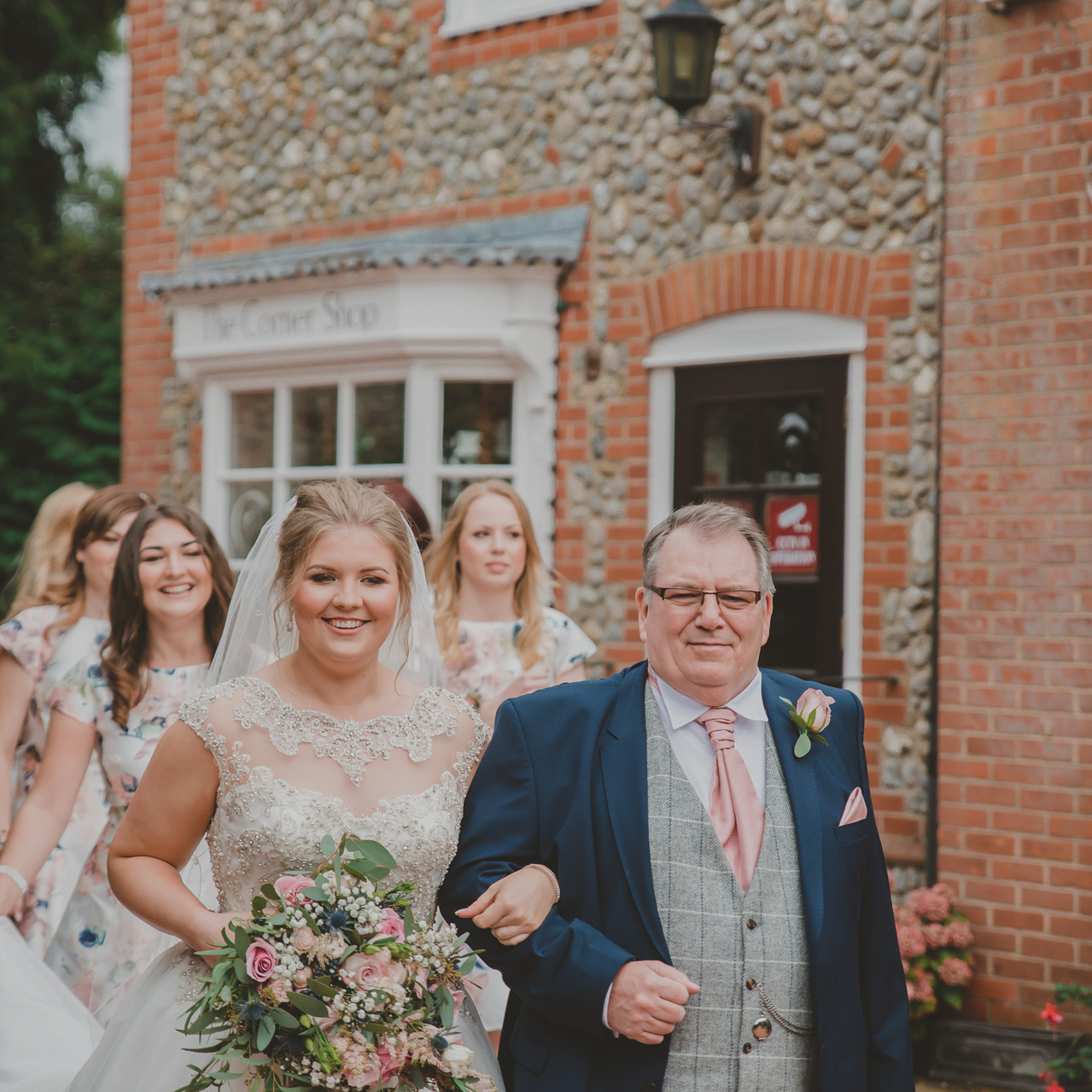 Fay Wedding - Thursford Collection at the Garden Pavilion, Norfolk. On the way to get married!