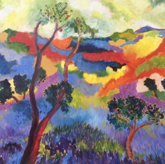 Lavender Mountainscape
