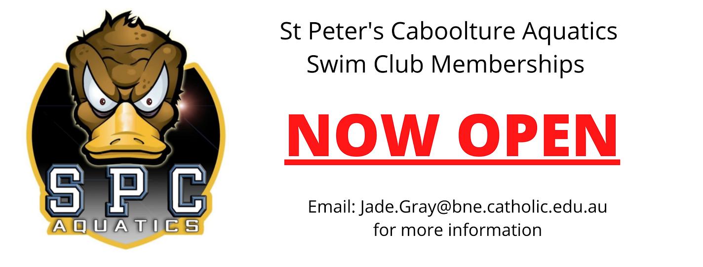 St Peter's Caboolture Aquatics Swim Club