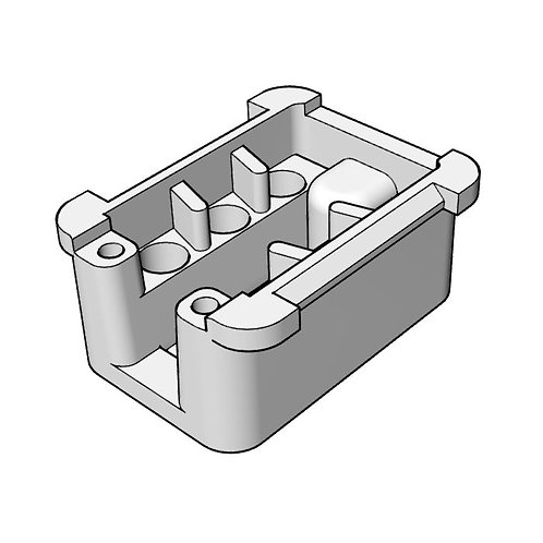 6 Pin Connector Housing (With Hole)