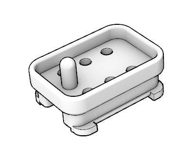 6 Pin Connector Housing (With Pin)