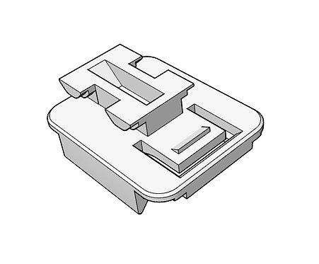 6 Pin Connector Housing Base (clip-in)