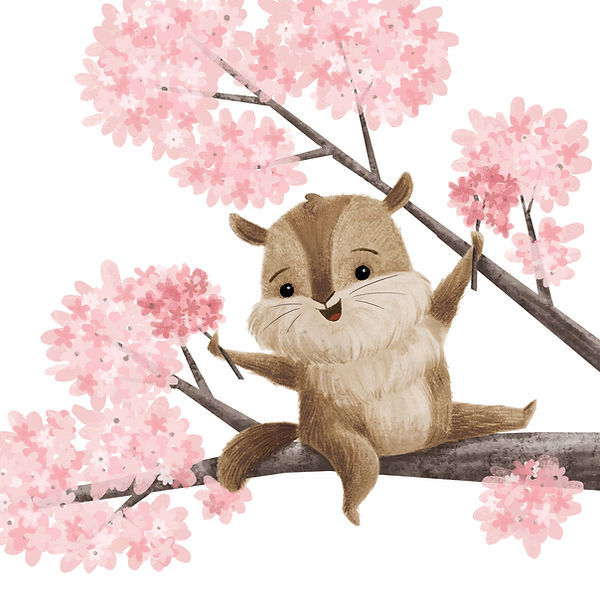 Cherry Blossom Chipmunk.jpg