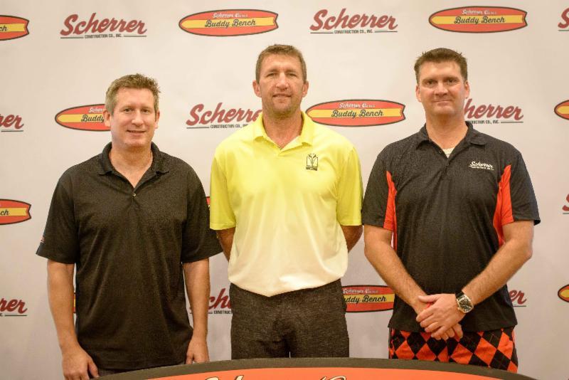 Scherrer Cares Board Members and Owners of Scherrer Construction Joe O'Neill and Jim Scherrer with Bill Schroeder.