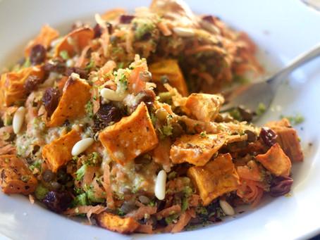 Lentil, Carrot, and Broccoli Salad