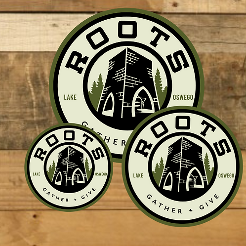 Roots Logo vinyl sticker