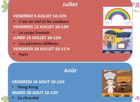 Des ateliers thématiques pour les enfants francophones!