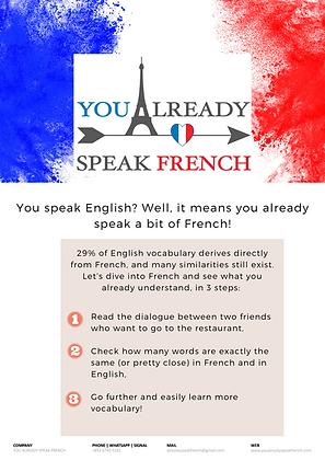 FREE - You already speakFrench!