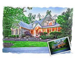 Custom home painting
