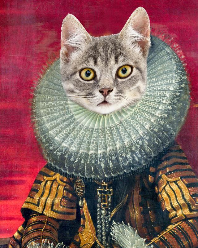 Personalized cat portrait