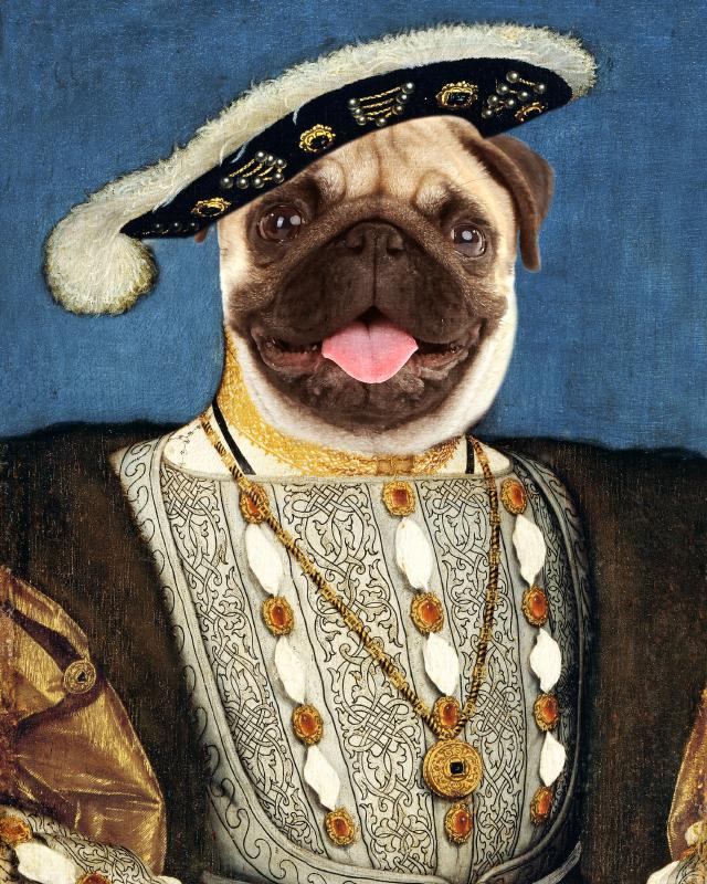 King Edward dog portrait