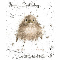 wrendale little bird card