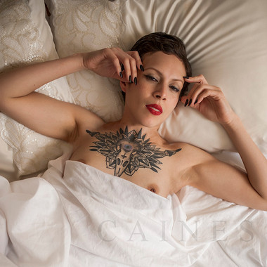 Boudoir Photography in New York City Bruce Caines tattoo