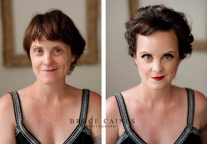 Collette Mclafferty boudoir shoot before and after
