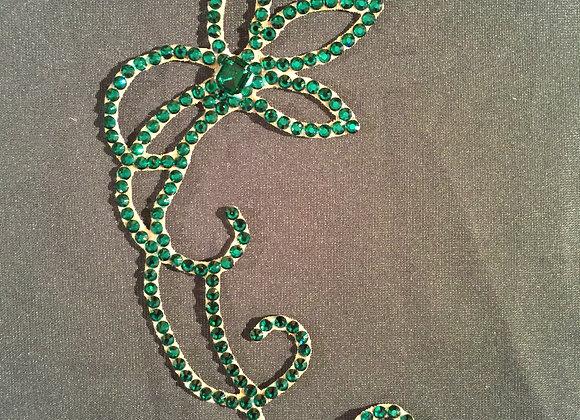 Emerald Hair Piece (EF 009)