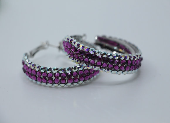 Earrings - Crystal AB/ Deep Tanzanite
