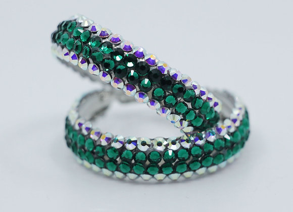 Earrings - Crystal AB/ Emerald