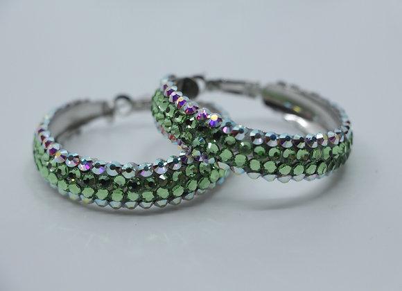 Earrings - Crystal AB/ Peridot