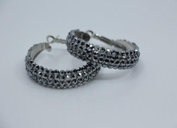 Earrings - Jet Hematite
