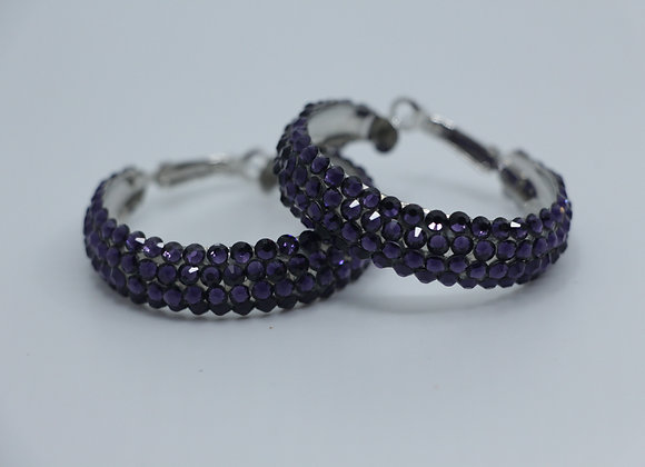 Earrings - Deep Tanzanite