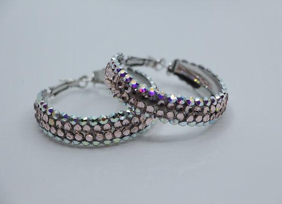 Earrings - Crystal AB/ Light Peach