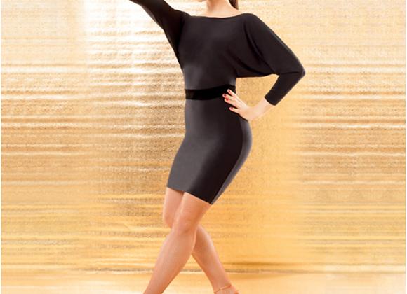 Black Dance Top & Dress (Batwing Sleeves)