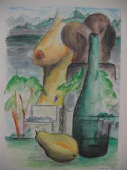 Orig, Bleistift, Gouache