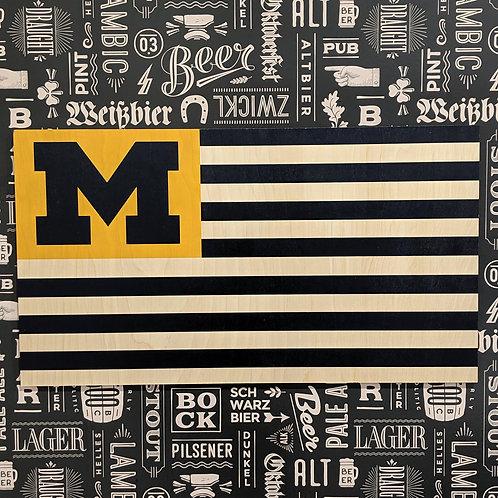 Michigan - Wood Flag