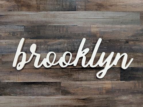 Dimensional Brooklyn Sign