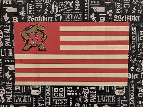 Maryland - Wood Flag