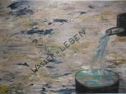 Afrika, Wasser=Leben 2012 Gouache-Kohle