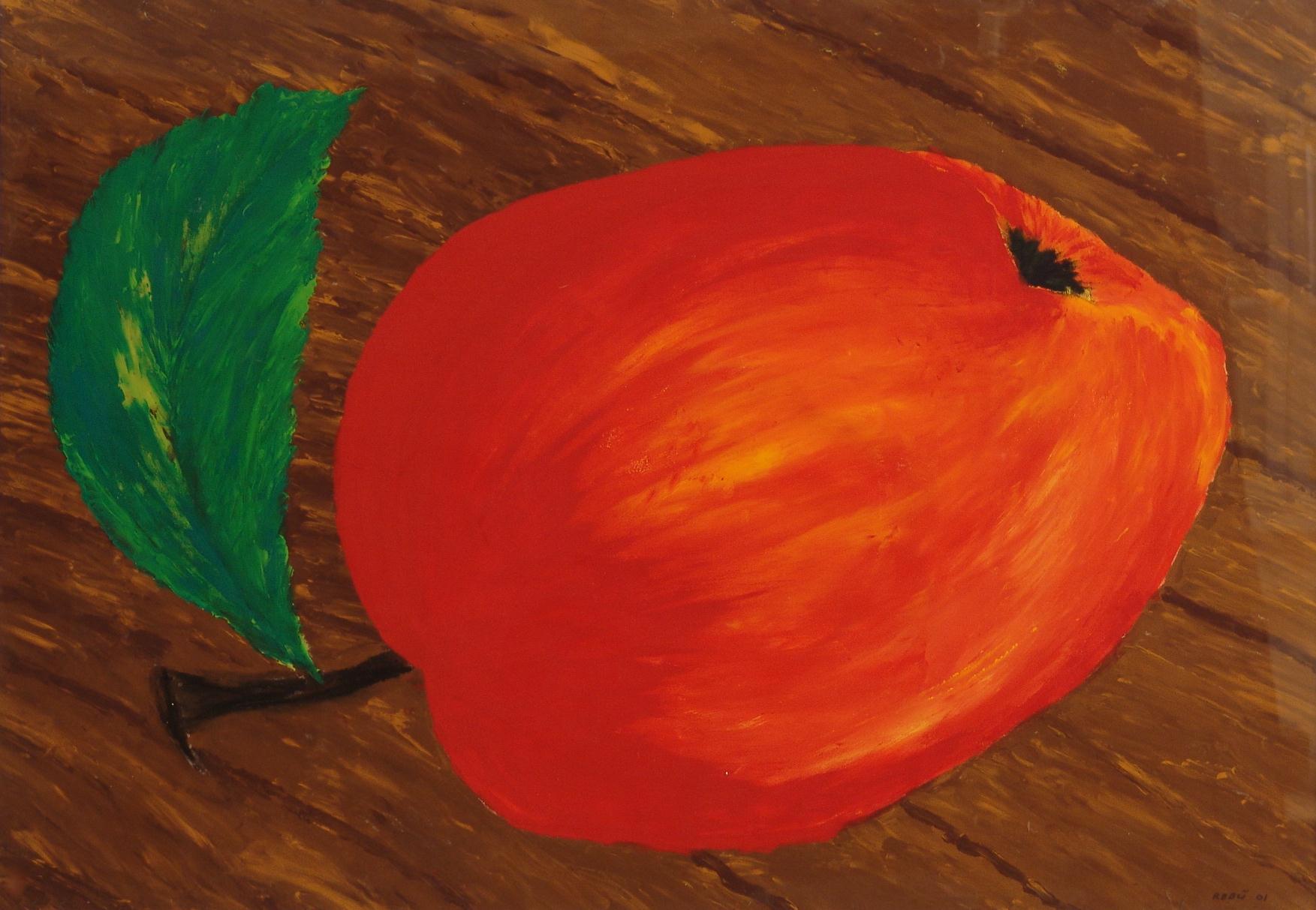 Apfel 100x70cm Gouache auf Papier