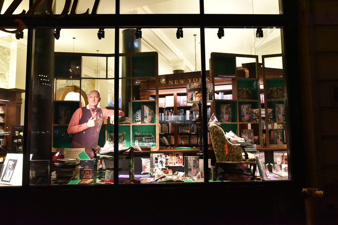 Custom Window Display at Rizzoli Bookstore
