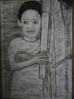 Afrika 4 Kohle auf Papier 50x70cm