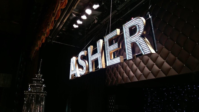 Asher's Bar Mitzvah Sign: Dimensional LED Letters