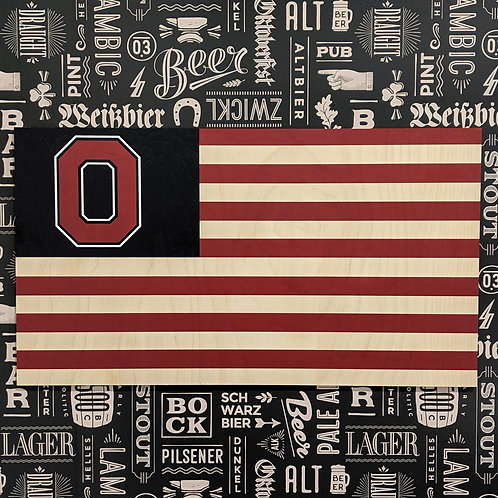 Ohio - Wood Flag