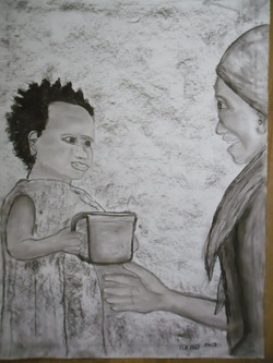 Afrika 5 Kohle auf Papier 50x70cm