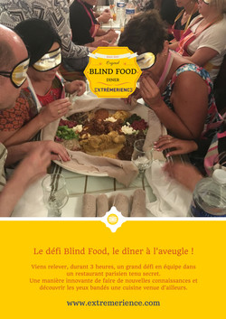 Affiche blind food EXTREMERIENCE