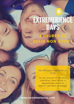 Affiche DAYS EXTREMERIENCE