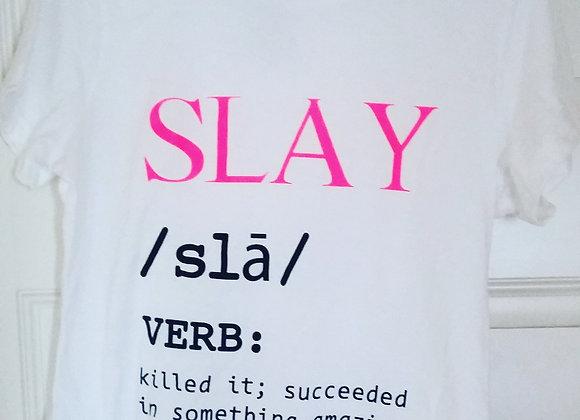 Women's Definition of Slay T-Shirt (White)