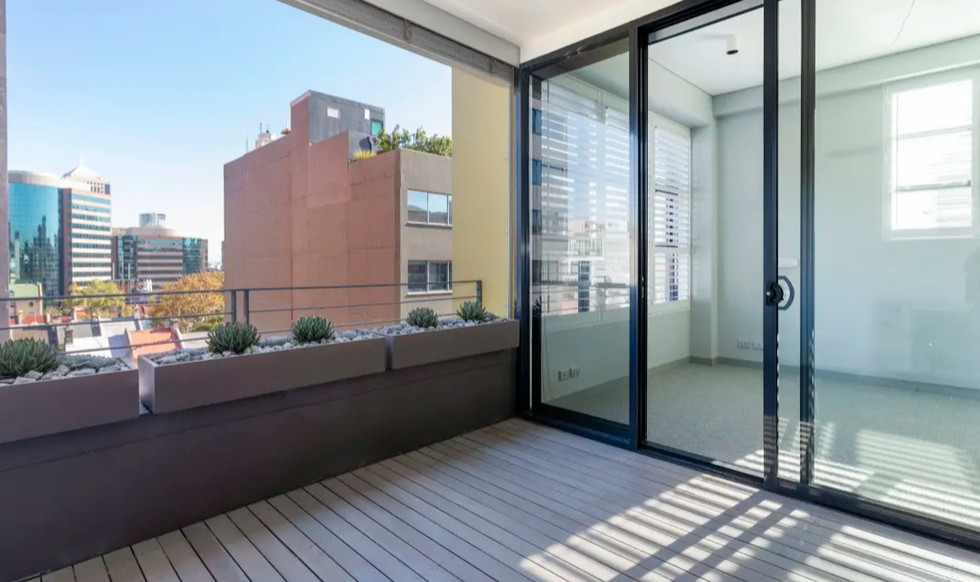 Balcony outlook at apartment at Bellevue Street, Surry Hills