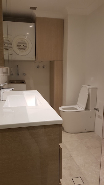 Bathroom and laundry renovation at Willoughby Road, Naremburn.