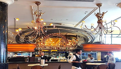 Picture of Bar area and chandeliers