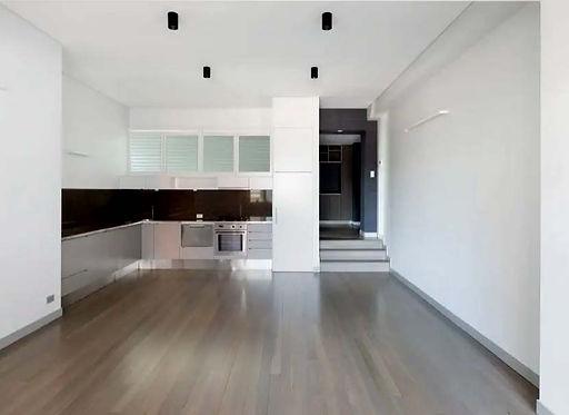 Living area open plan & kitchen