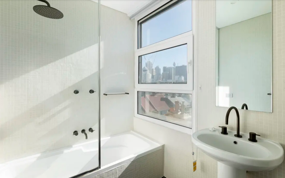 Bathroom refresh at apartment at Bellevue Street, Surry Hills