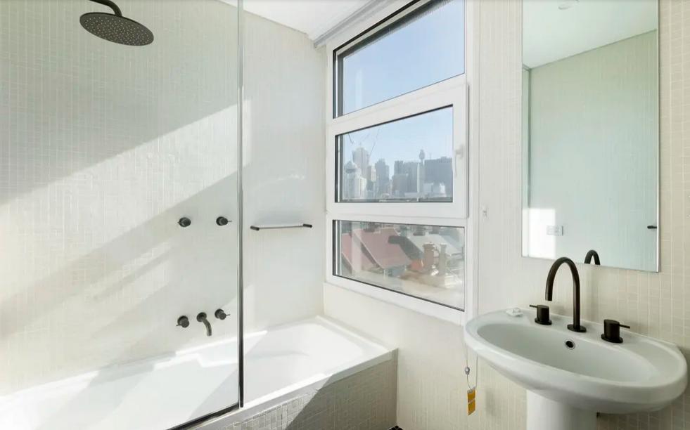 Bathroom refresh at apartment at Bellevue Street, Surry Hills