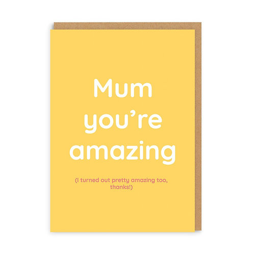 Ohh Deer - Mum You're Amazing Card